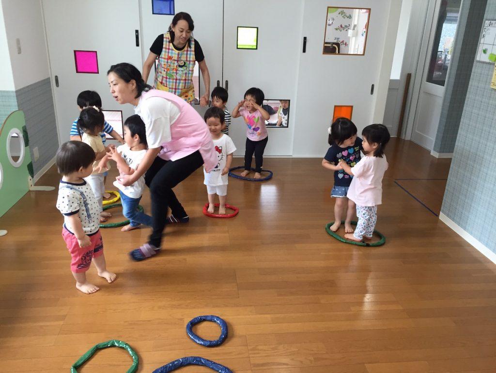 親子レクリエーションの練習風景